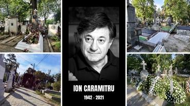 """E toamnă în lumea teatrului! Ion Caramitru, înmormântat la Bellu, învăluit de """"aplauzele"""" naturii"""