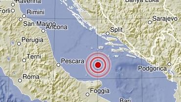 Cutremur puternic în Marea Adriatică. Seismul, resimțit în Italia și Croația