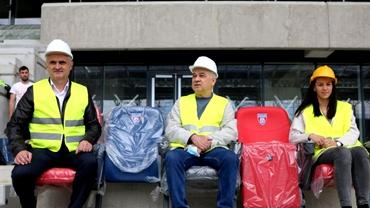 """Anghel Iordănescu, în vizită la noul stadion din Ghencea: """"Sunt de-a dreptul impresionat!"""" Video"""