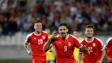 Gol superb înscris de Mitrovic în Serbia - România. Video