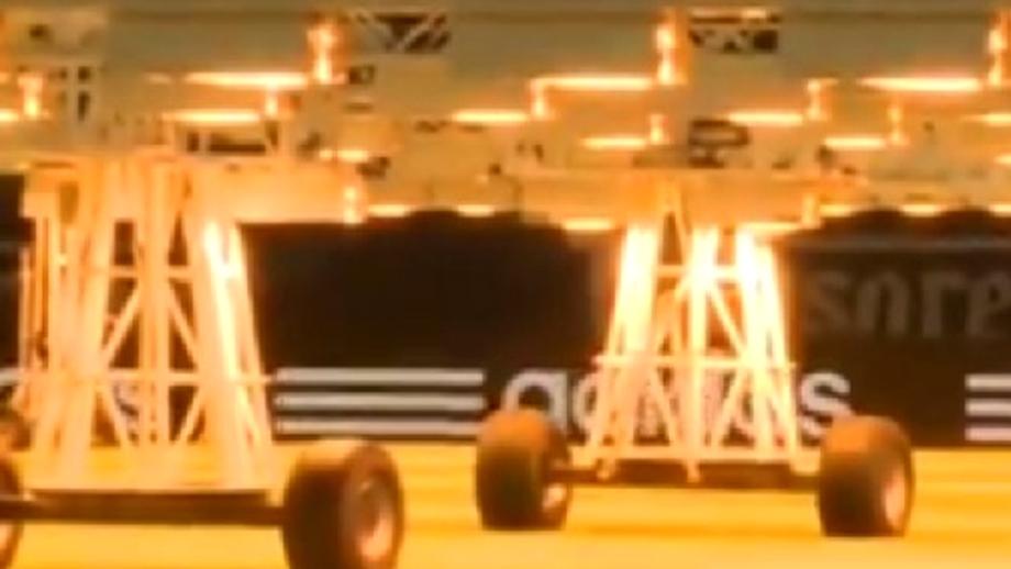 VIDEO / A fost montat sistemul pentru protejarea gazonului de pe Arena Naţională