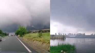 Ciclonul din Marea Neagră, efecte în România. Două tornade, filmate duminică în Moldova și Dobrogea. Video