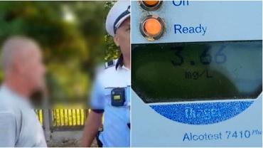 Șofer din Galați, depistat cu o alcoolemie record: 3,66 mg/l alcool pur în aerul expirat. Ce a urmat pentru bărbat. Video