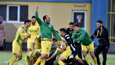 CS Mioveni, revenire de senzație în Liga 1! E singura echipă din Liga 2 care câștigă barajul de promovare