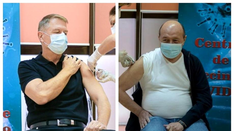Brandul lui Iohannis vs. burta lui Băsescu. Cum au trecut proba vaccinului actualul și fostul președinte