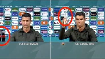 """Cristiano Ronaldo le-a dat o idee genială suedezilor de la IKEA după momentul viral de la Euro 2020: """"Doar apă!"""""""