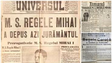 Ce scriau ziarele pe 6 septembrie 1940! Carol abdica şi Mihai era proclamat, pentru a doua oară, rege al României