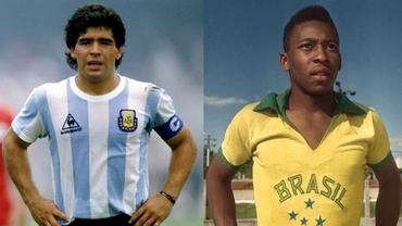 """Ziua zeilor. Pelé 80 vs Maradona 60. Eternul """"război"""" al """"regilor"""" fotbalului la aniversări """"rotunde"""""""