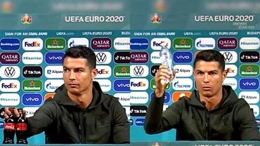Coca-Cola a pierdut 4 miliarde de dolari după gestul lui Cristiano Ronaldo dinainte de Ungaria - Portugalia. Foto