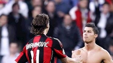 Rivalitatea dintre Cristiano Ronaldo și Zlatan Ibrahimovic a ajuns în Serie A. Suedezul are mai multe trofee, dar portughezul domină duelul