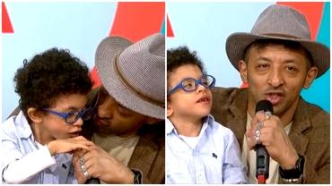 Kamara, cu fiul bolnav, în direct, la TV. Cum se simte Leon, înainte de o nouă intervenție