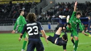 VIDEO / Goga, hat-trick pentru Dinamo Tbilisi