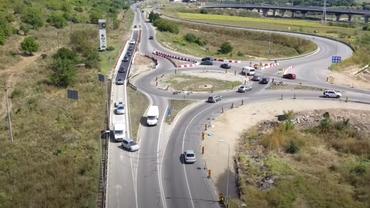 Un sens giratoriu din Alba Iulia, coșmar pentru șoferi. De ce sunt obligați să încalce legea. Video