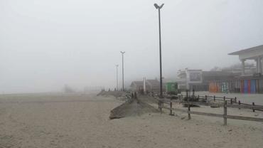 Fenomen rar în România, luni, 8 iunie 2020. Ceață la mare, în plină vară