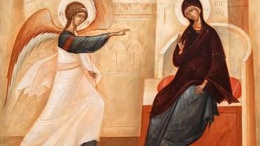 Calendar Ortodox 25 martie 2021. Cruce roșie. Buna Vestire, sărbătoare mare pentru creştini ortodocși