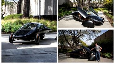 Cum arată automobilul care se încarcă la soare și costă numai 25.000 de dolari. Batmobilul, mașina viitorului! Foto