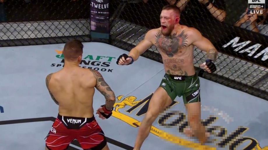 Conor McGregor - Dustin Poirier. Irlandezul pierde prin TKO! Şi-a rupt piciorul în prima rundă. Foto + Video