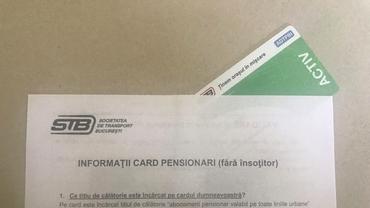 STB distribuie carduri gratuite pentru pensionari! Ce valabilitate vor avea și cum se folosesc