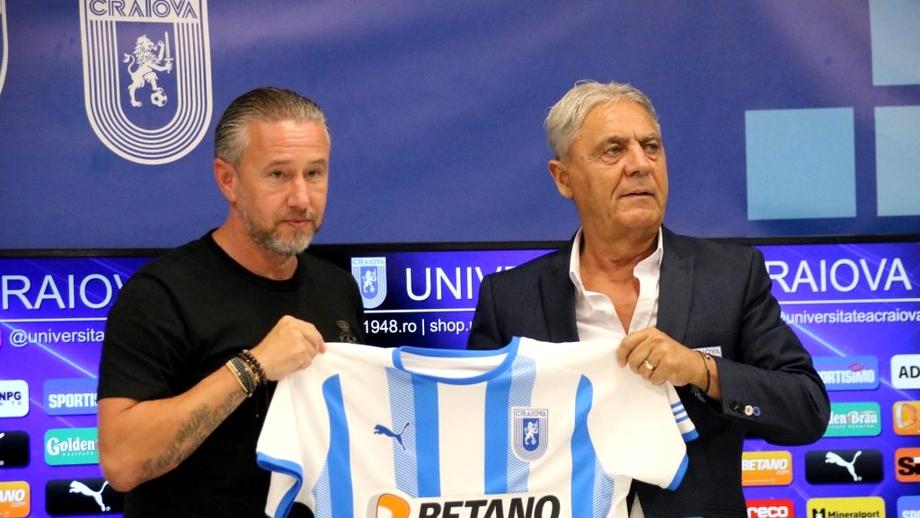 Antrenor cu portarii nou la Universitatea Craiova. Cine completează staff-ul lui Laurențiu Reghecampf