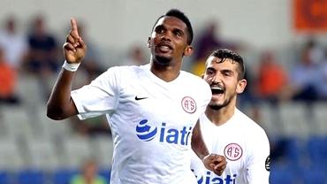 VIDEO / Eto'o, DEBUT de VIS la Antalyaspor! A marcat 2 goluri în prima etapă din Turcia