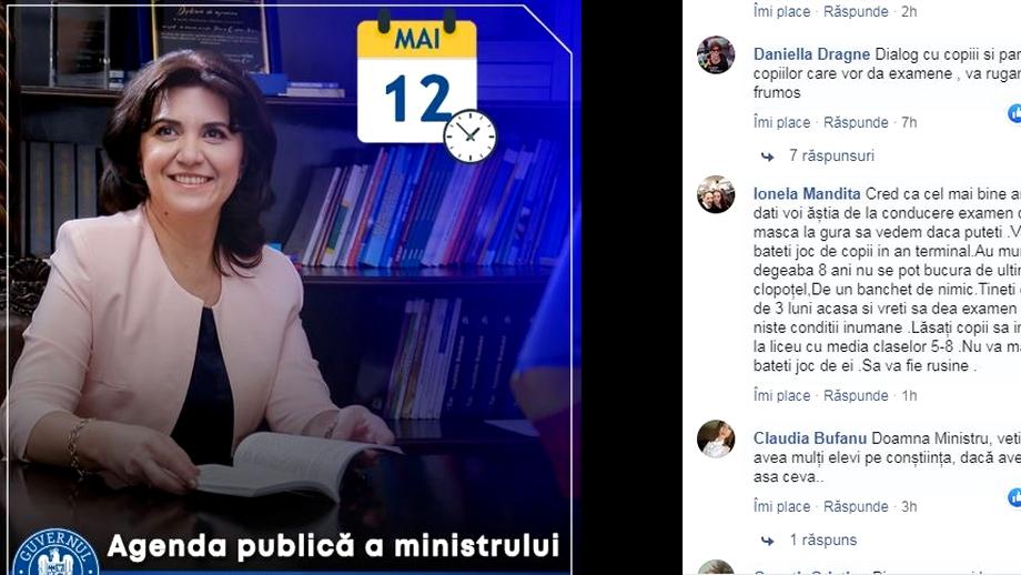 Acuze dure la adresa ministrului Educației! De ce șterge Monica Anisie comentariile răutăcioase de pe Facebook