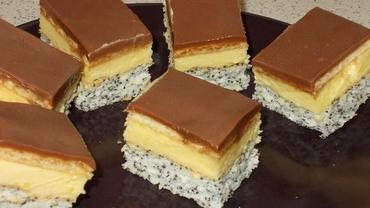 Rețeta de prăjitură cu mac și cremă de vanilie. Un desert de neratat!