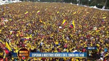 VIDEO INCREDIBIL / Zeci de mii de oameni i-au aşteptat pe columbieni acasă!