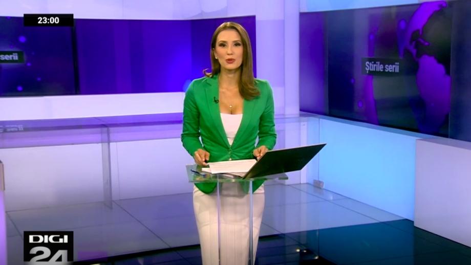 """Schimbare la Digi24. Andreea Bratu i-a luat locul lui Marius Pancu. Cum a apărut îmbrăcată la """"Știrile serii"""""""