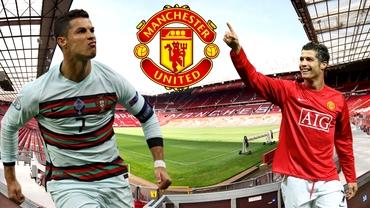 """Cristiano Ronaldo s-a întors la Manchester United! Primele imagini cu portughezul în tricoul """"diavolilor roșii"""". Foto"""
