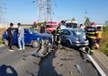 Accident grav în Dâmbovița. 5 persoane rănite, după impactul violent dintre 2 mașini. Video