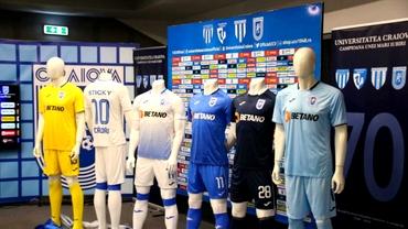 Universitatea Craiova şi-a prezentat echipamentele pentru sezonul 2019 - 2020 din Liga 1. GALERIE FOTO