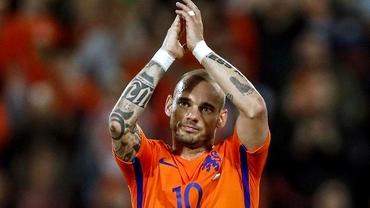 Se retrage Sneijder de la naţionala Olandei! A jucat ultima dată cu România