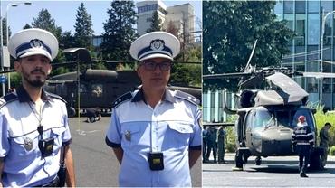 """Beinur și Adrian, polițiștii eroi din Capitală. Au oprit imediat mașinile, când au văzut elicopterul aterizând: """"Au reușit să prevină un dezastru"""""""