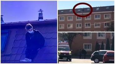 Cine era tânărul care s-a aruncat de pe acoperișul unui cămin din București. Băiatul, incoerent în timpul negocierilor