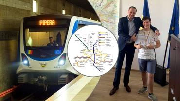 Alexandru Bucur, puştiul pasionat de metrou, care face un maraton al stațiilor: