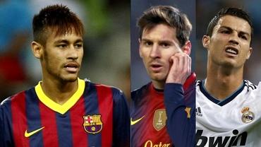Messi, Neymar sau Ronaldo? Vezi cine e FAVORIT