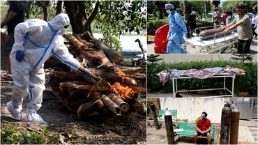 Dezastru în India. Bolnavii de COVID mor pe stradă, familiile caută oxigen pe piața neagră