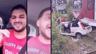 Accidentul înfiorător din Ploieşti, transmis live pe Facebook. Maşina a fost lovită în plin de tren. Video