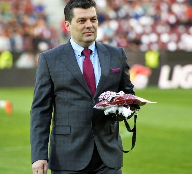 Marian Băgăcean s-a bucurat la cîștigarea titlului, dar nu el este patronul adevărat al lui CFR Cluj
