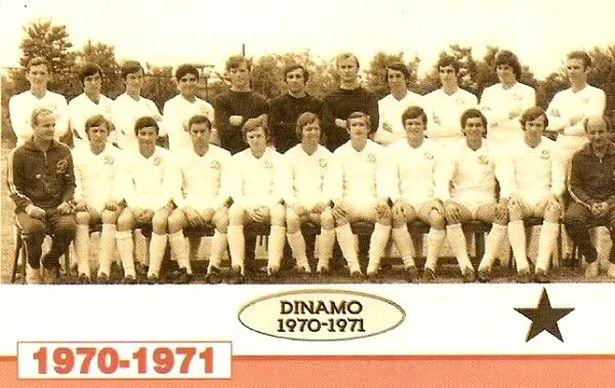 Cornel Dinu este al doilea din dreapta, pe rândul de sus al echipei campioane din sezonul 1970-1971, Dinamo București