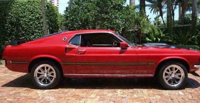 """Mașinile... """"Motoretei"""" Adi Popa: """"perla"""" coroanei, un Ford Mustang Mach 1 din 1969"""