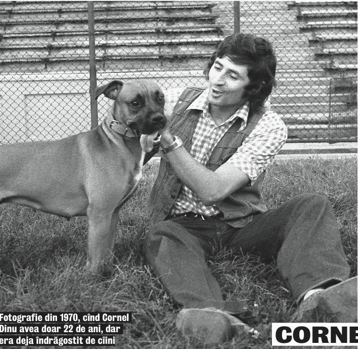 """Cornel Dinu, un """"câine"""" care a iubit dintotdeauna câinii, cu și fără ghilimele. Aici într-o poză de când avea doar 22 de ani"""