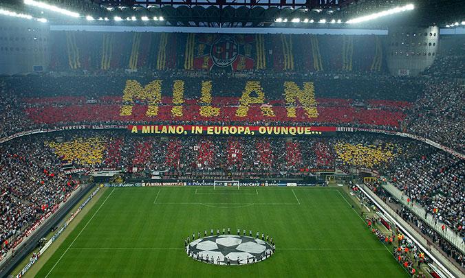 San Siro din Milano. Singurul stadion care are două nume. nd joacă Inter se numeşte Giuseppe Meazza
