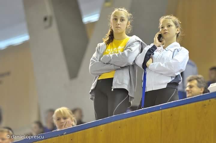 Cătălina Rob Ditan şi Maria Dumitru la Sala Sporturilor