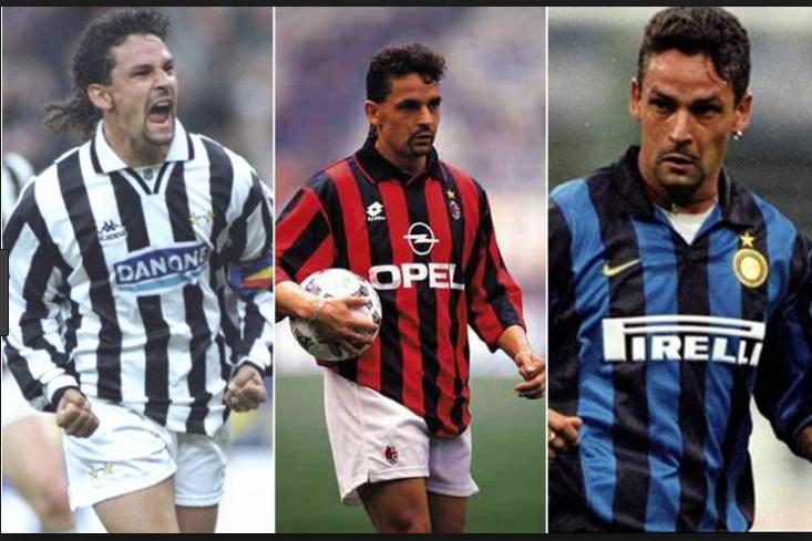Cum arată unsprezecele ideal al celor care au jucat și la Milan și la Juventus. Roberto Baggio a jucat la ambele echipe, dar și la Inter, unde a fost antrenat de Mircea Lucescu
