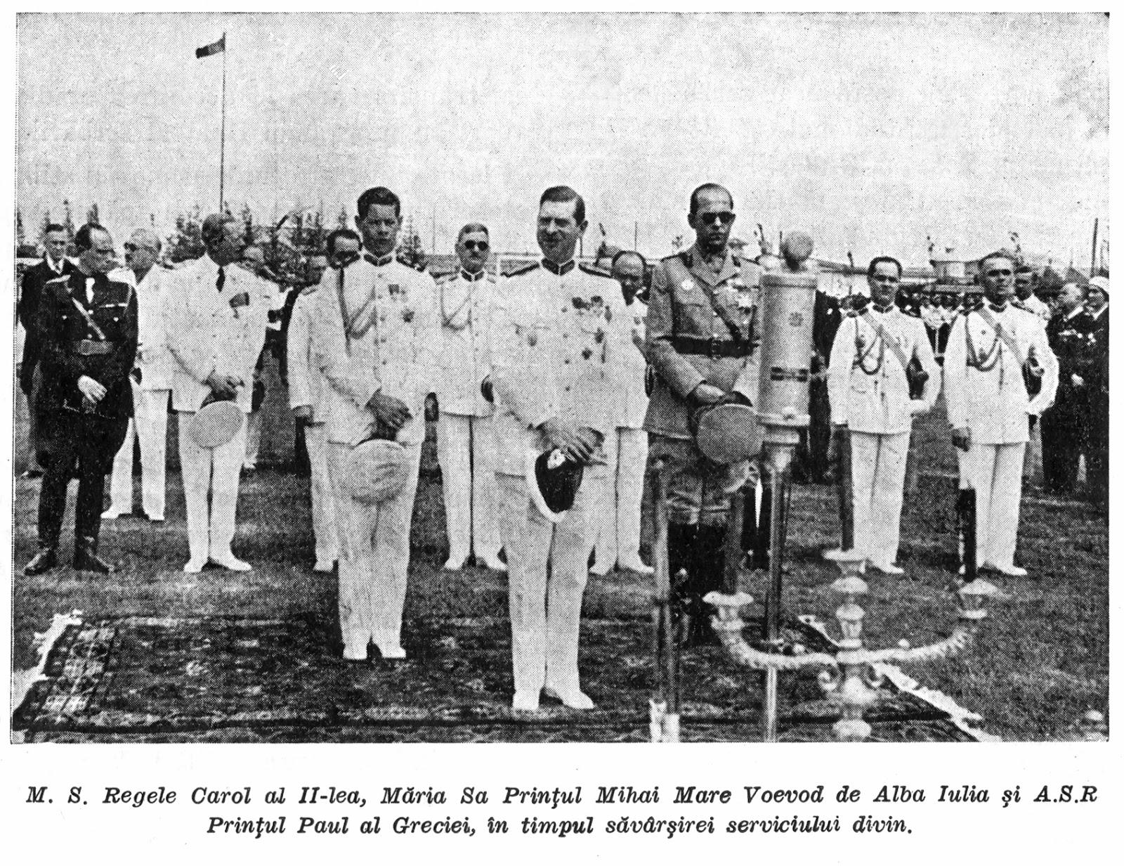 Regele Carol al II-lea și Regele Mihai, la inaugurarea stadionului Giulești