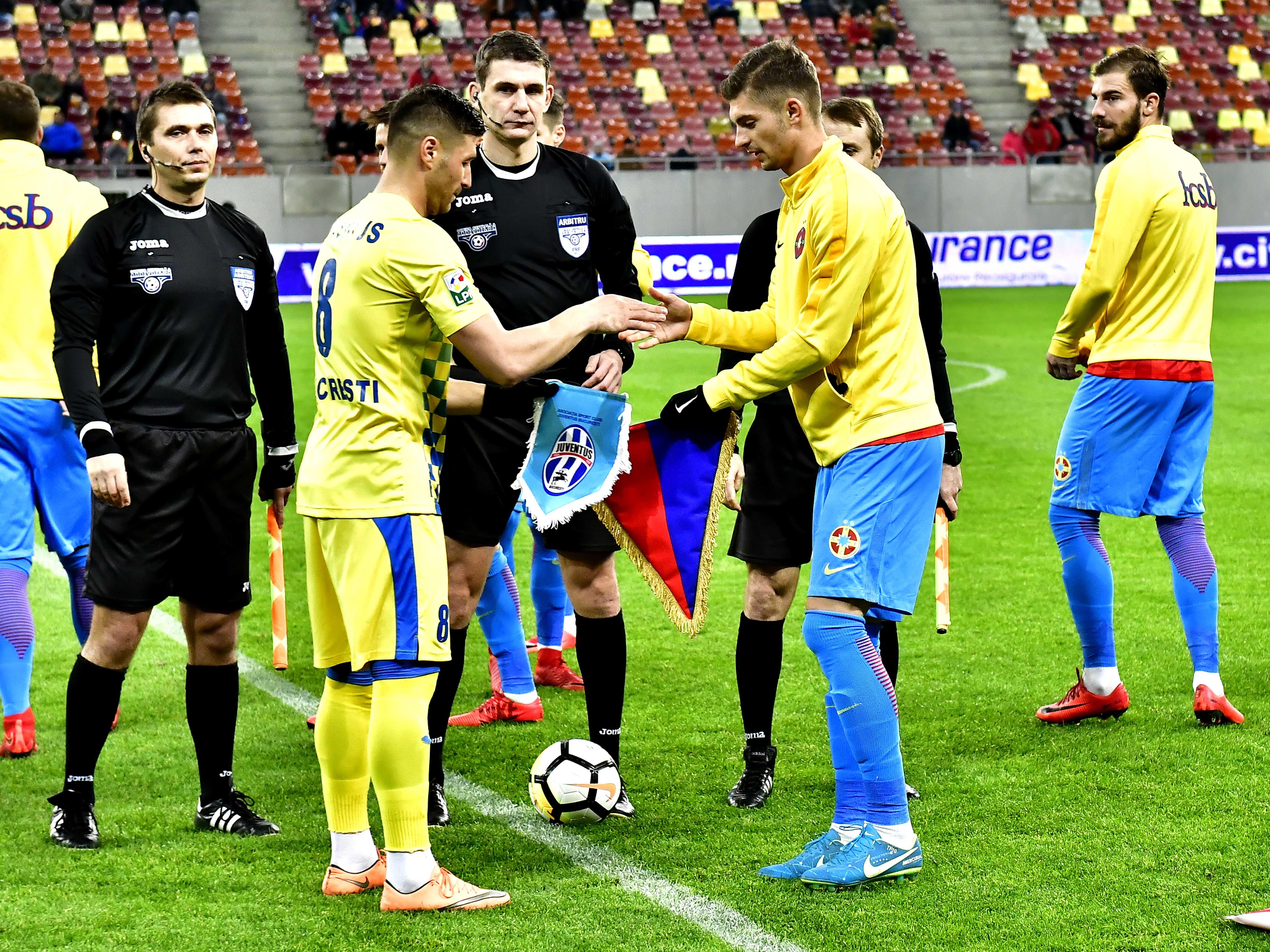Arbitrul Horia Mladinovici la meciul FCSB - Juventus București