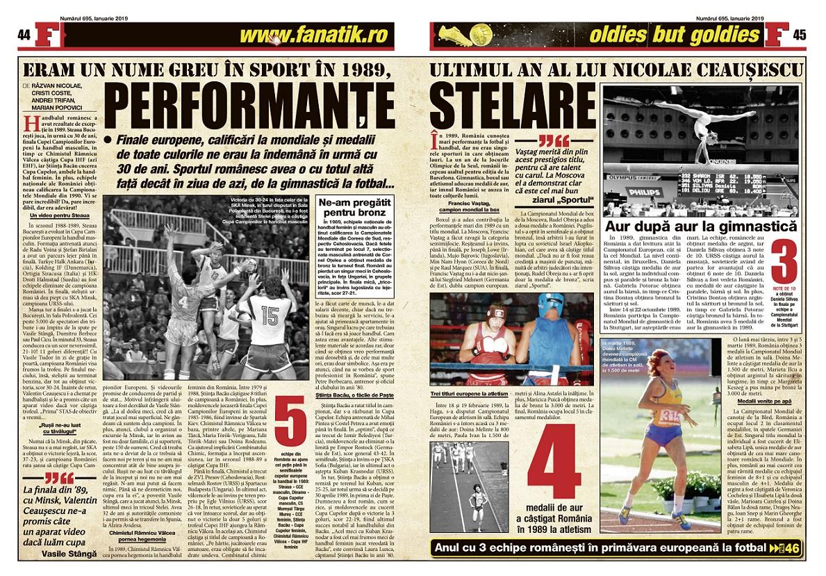 """Prăpastia între ce era sportul românesc în urmă cu 30 de ani și ce jale este acum, într-un """"remember"""" trist în revista FANATIK... Comparația este dramatică!"""
