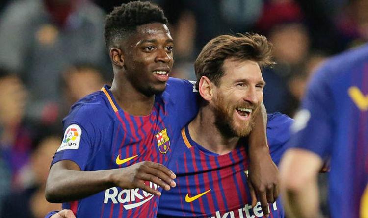 Lionel Messi şi Ousmane Dembele