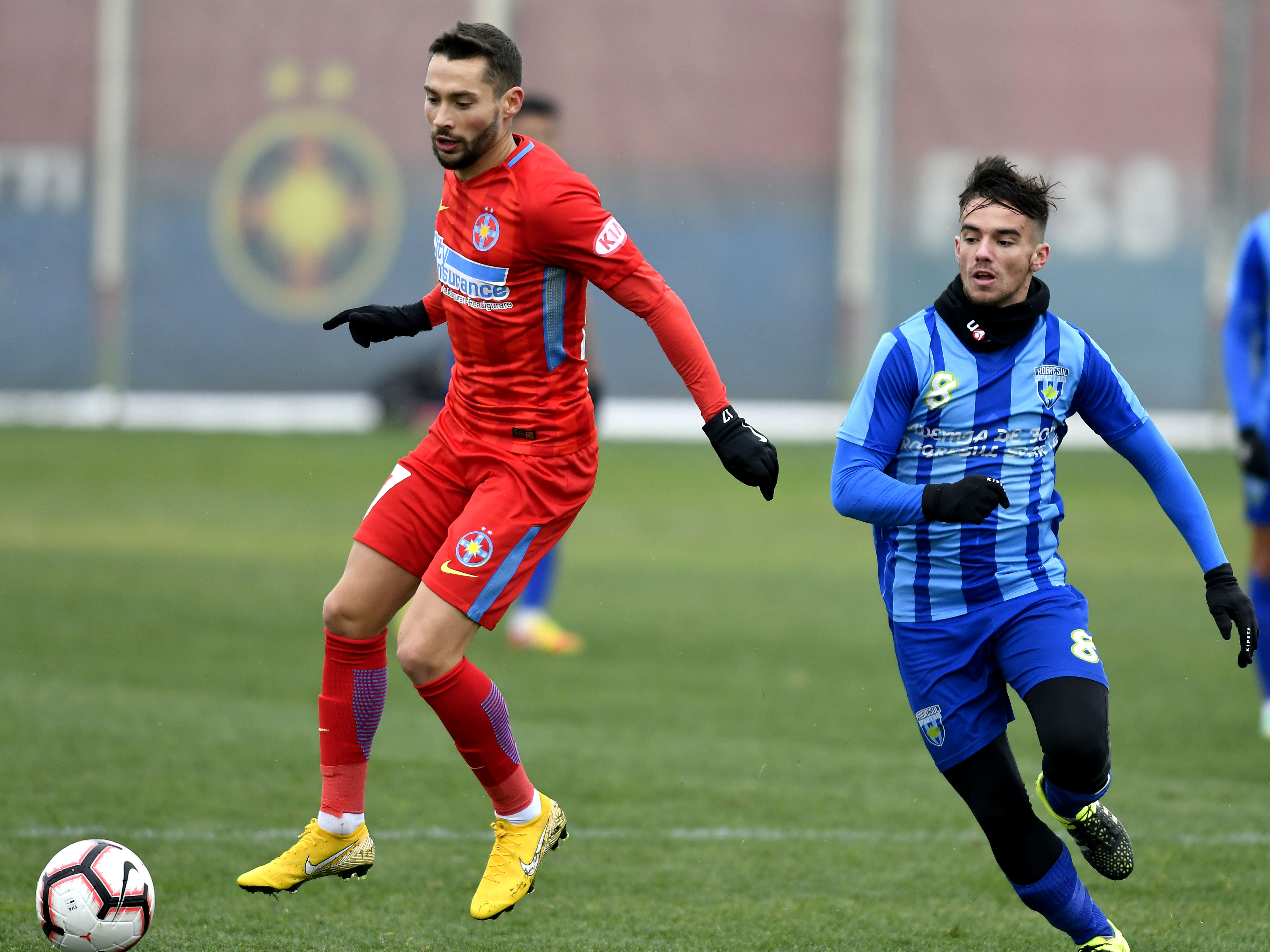 Antonio Jakolis în meciul amical de fotbal dintre FCSB și Progresul Spartac Bucureșto